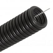 Труба гофрированная ПНД 16мм с протяжкой чёрная DKC
