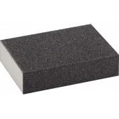 Губка шлифовальная четырехсторонняя стредняя жесткость P120 100*68*26мм