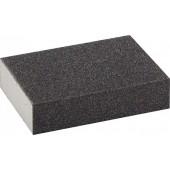 Губка шлифовальная четырехсторонняя стредняя жесткость P80 100*68*26мм