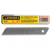 Лезвия STAYER STANDARD сегментированные, 18мм, 10 шт, в боксе