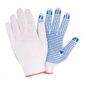 Перчатки вязанные х/б 3 нити ПВХ