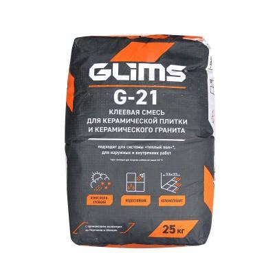 GLIMS G-21 Плиточный клей для керамической плитки и керамического гранита (25 кг)