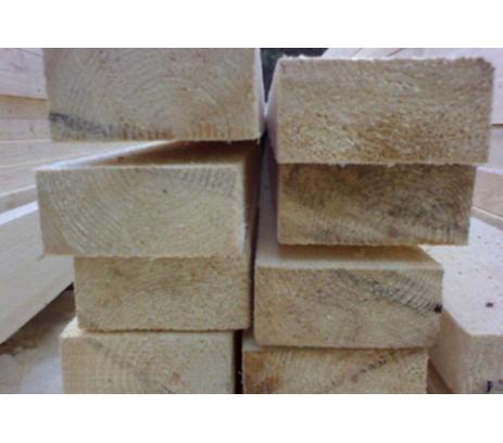 Брус обрезной ГОСТ 1 сорт 100х200х6000 мм Зеленый лес  1м3-8штук