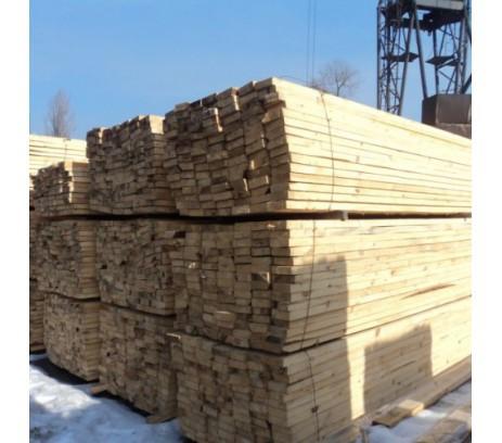 Доска обрезная ГОСТ 1 сорт 25х100х6000 Зеленый лес  1м3-66 штук