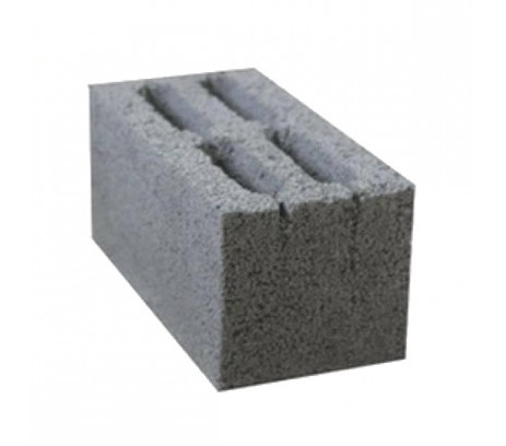 Блок керамзитный пустотелый 20*20*40