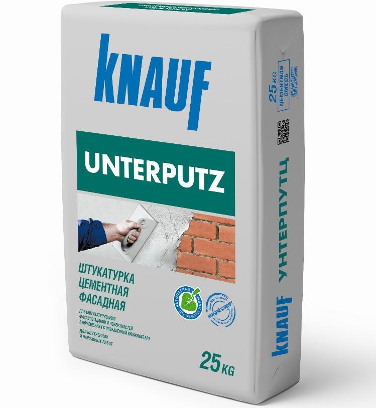 Штукатурка цементная фасадная KNAUF Унтерпутц (25 кг)
