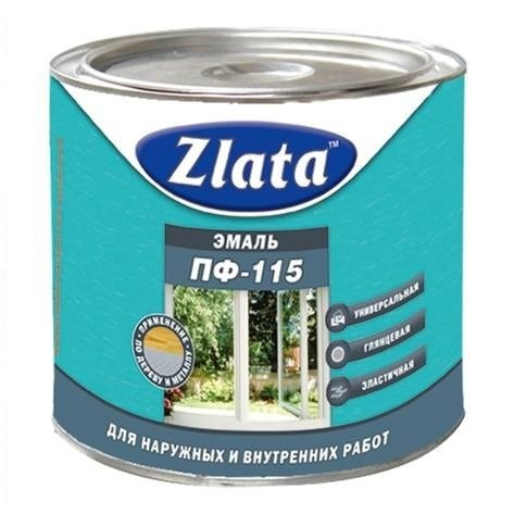 Краска эмаль ПФ-115  ZLATA  термостойкая   2,7 кг белая