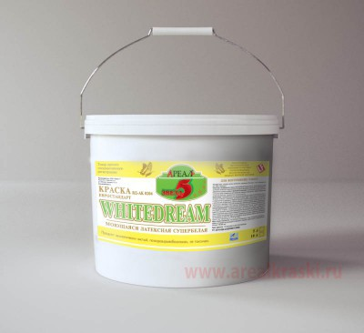 Краска серии 5 звезд латексная супербелая моющаяся WHITEDREAM, евро стандар   10л