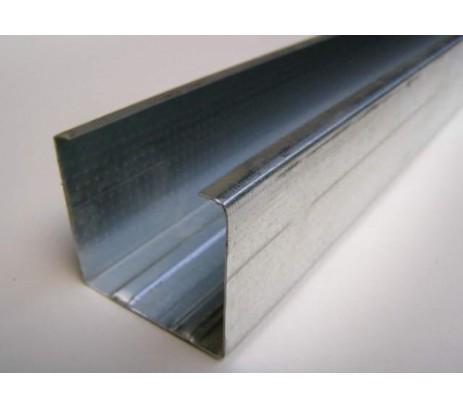 Профиль направляющий 75х40 3 м толщина стенки  0,55