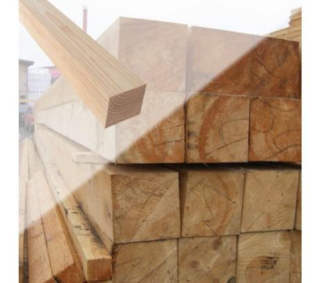 Брус обрезной ГОСТ 1 сорт 100х100х6000 мм Зеленый лес  1м3-16штук