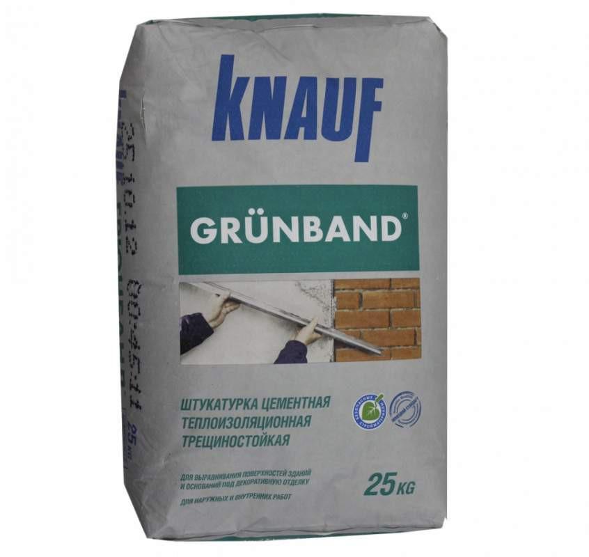 Штукатурка  цементная теплоизоляционная фасадная KNAUF Грюнбанд (25 кг)