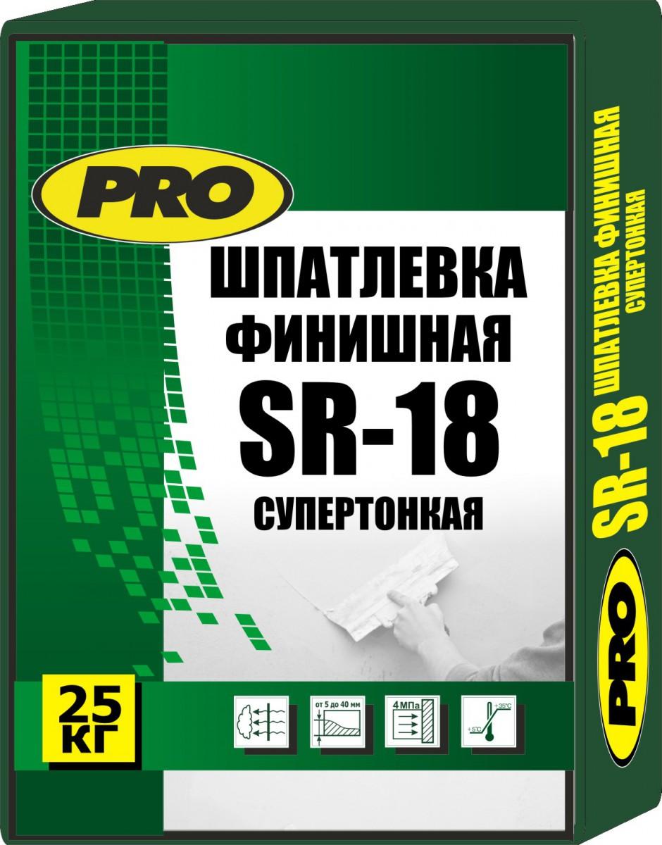 Шпатлевка  финишная SR-18 Pro  20 кг