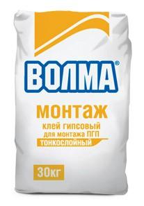 ВОЛМА МОНТАЖ - клей для гипсокартона и ПГП