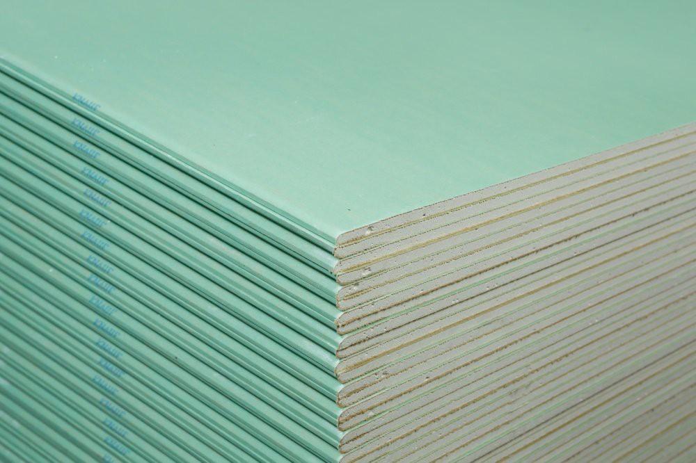 Гипсокартон КНАУФ-лист влагостойкий (ГСП-Н2) 2500х1200х9,5 мм