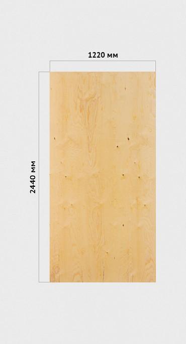 Фанера ФСФ  1,22*2,44 сорт 4/4   тол.12 мм