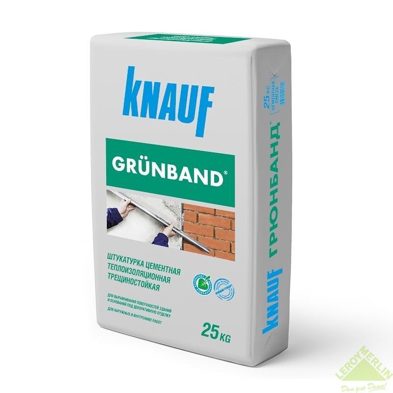 Штукатурка цементная теплоизоляционная Knauf Грюнбанд, 25 кг